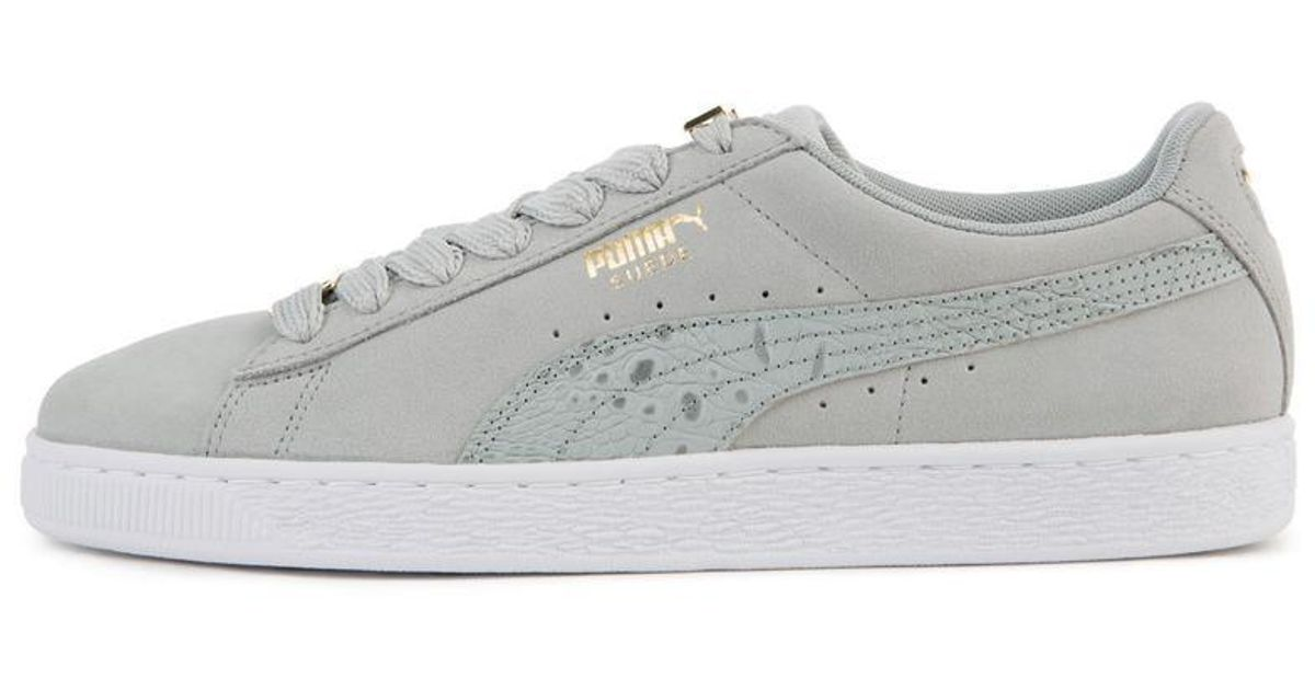 ab56562297b63a Lyst - PUMA The Suede Classic B-boy Fabulous In Quarry in Gray for Men