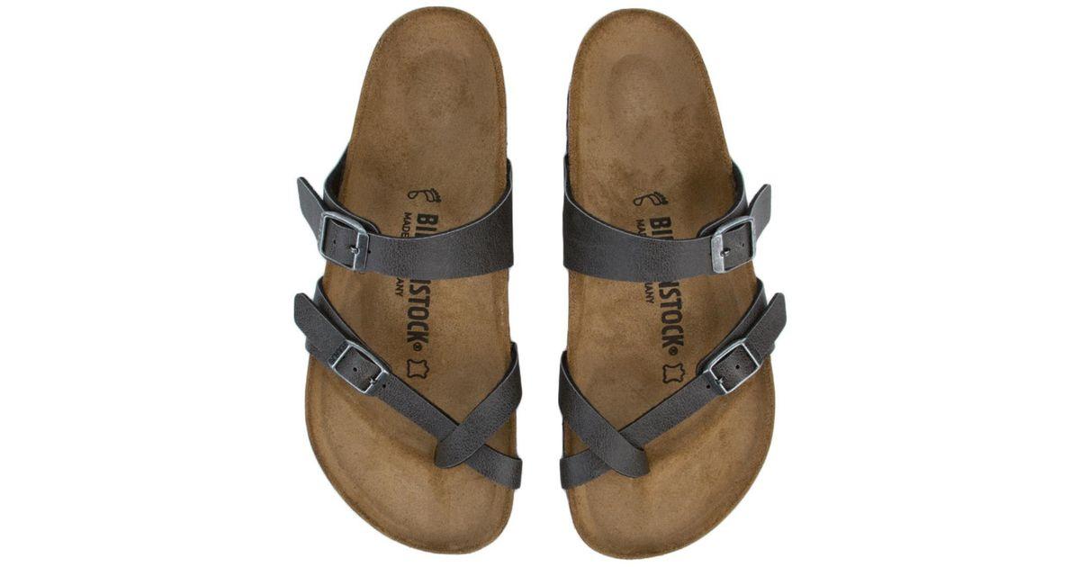 bed82b8ac86 Lyst - Birkenstock Mayari Birko-flor Pull Up Anthracite Sandals