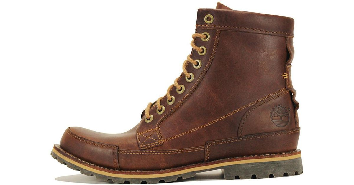 75d42b360a Lyst - Timberland Earthkeepers Original Leather 6-inch Brown Boot in Brown  for Men