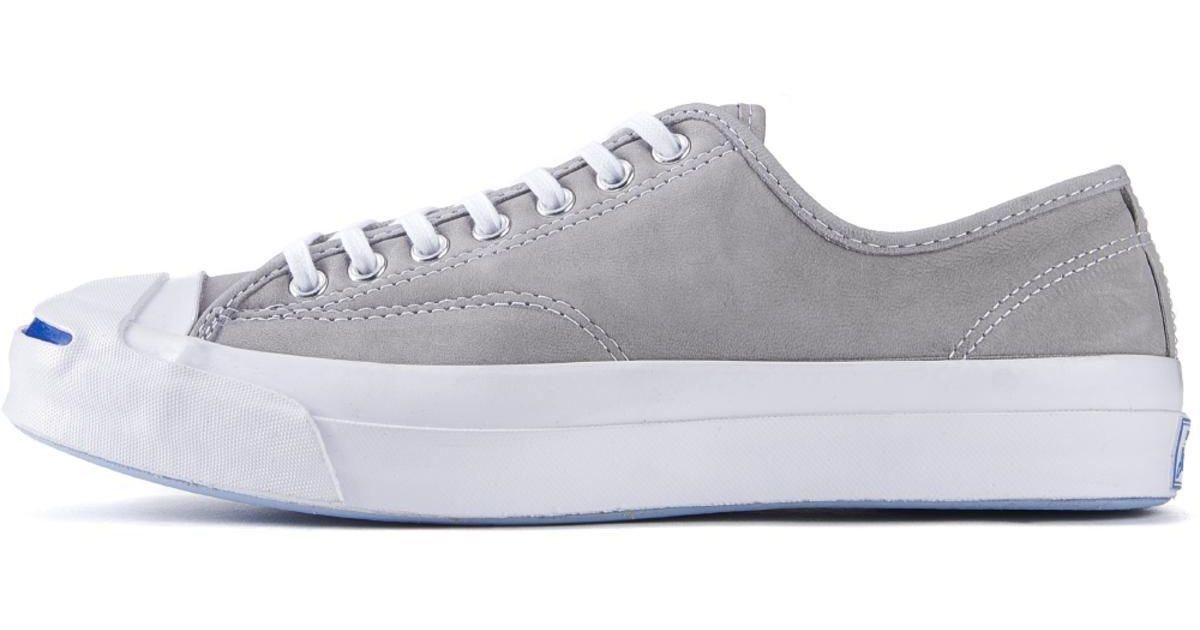 150ffafe6845f2 Lyst - Converse Jack Purcell Signature Nubuck Dolphin White Sneakers in  White for Men
