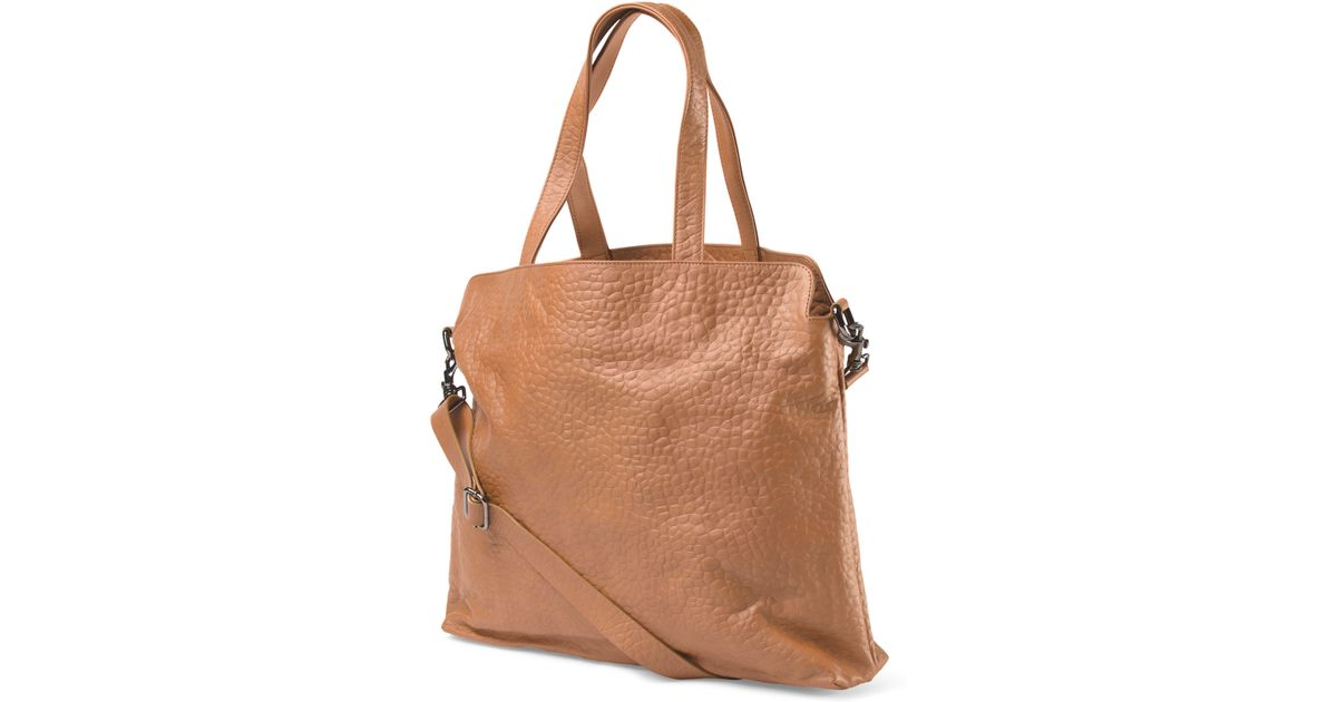 Tj Maxx Made In Italy Leather Oversized Tote In Brown Lyst