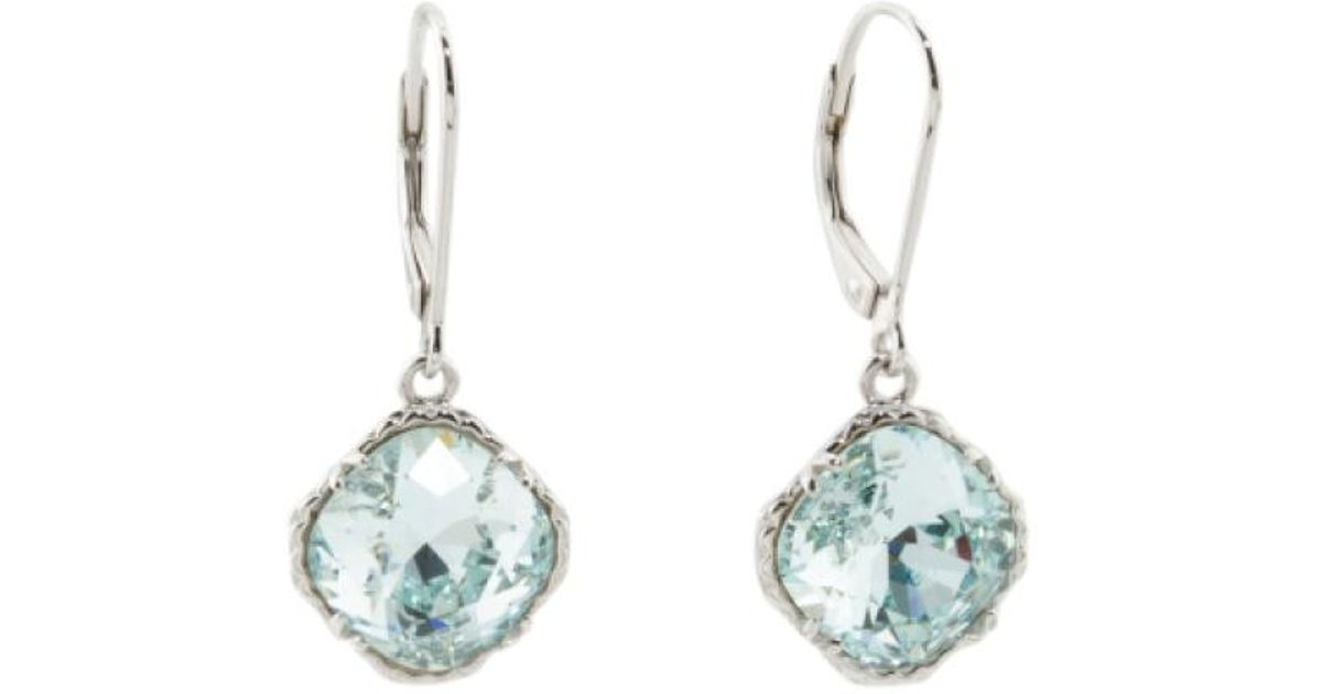 5f202fde3 Lyst - Tj maxx Sterling Silver Swarovski Crystal Lever Back Earrings