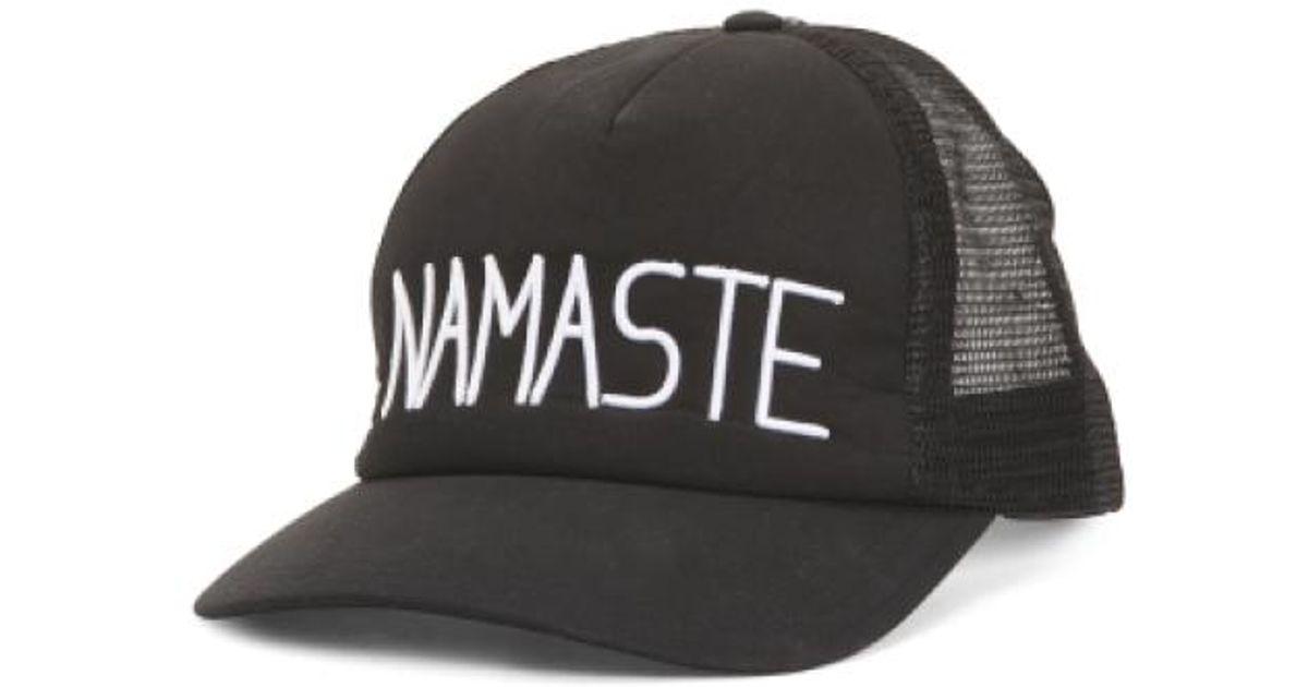 de80d537956a7 Lyst - Tj Maxx Namaste Trucker Hat in Black for Men
