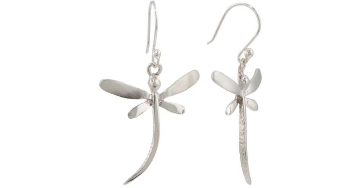 Lyst Tj Ma Made In Mexico Sterling Silver Dragonfly Earrings Metallic