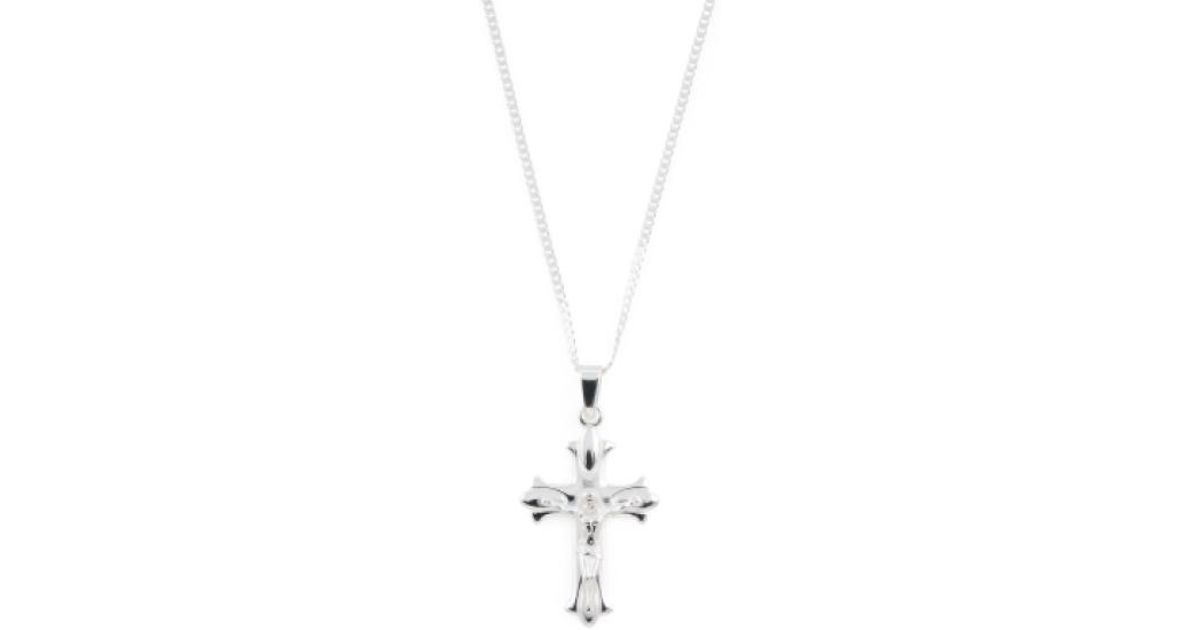 Lyst tj maxx mens made in india sterling silver crucifix necklace lyst tj maxx mens made in india sterling silver crucifix necklace in metallic for men aloadofball Choice Image