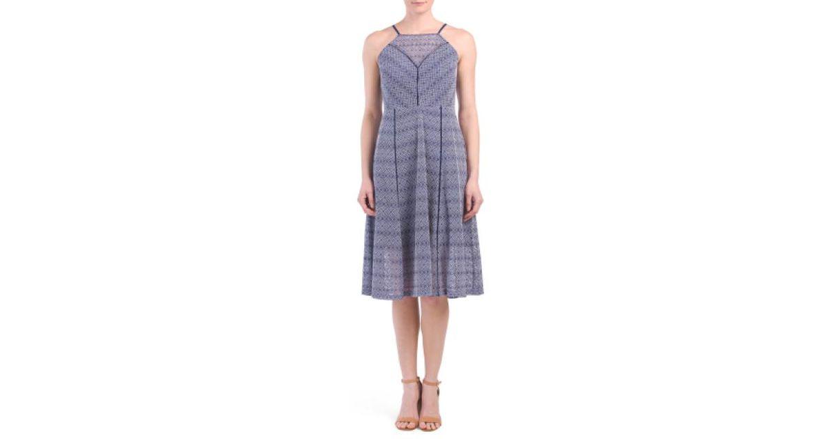 17e684bbe1dc9 Lyst - Tj Maxx Lace Fit & Flare Midi Dress in Blue