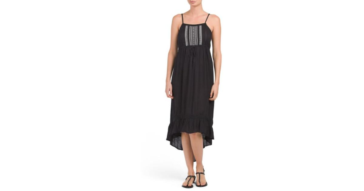6ca74b81ce Lyst - Tj Maxx Far Out Cover-up Maxi Dress in Black