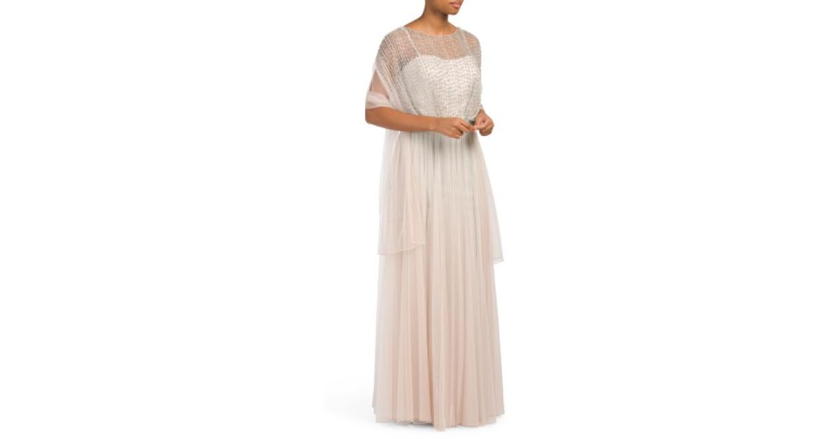 2a1b9557cba7 Lyst - Tj Maxx Couture Collection Beaded Gown
