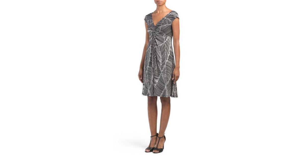 092224f28705 Lyst - Tj Maxx Cap Sleeve Twist Front Jersey Dress in Black