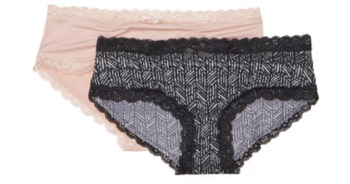 5ce909e489aac8 Lyst - Tj Maxx 2pk Micro Hipster Panties in Black