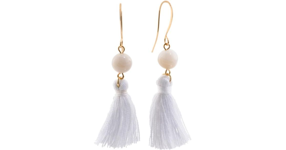 Lyst - Tj Maxx Made In Canada Ice Agate And Cotton Tassel Earrings ...