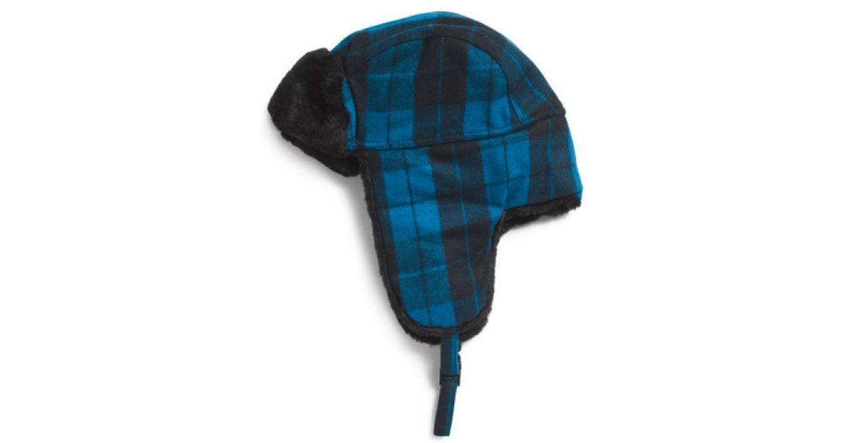 b861e8ee4b403 Lyst - Tj Maxx Trapper Hat in Blue
