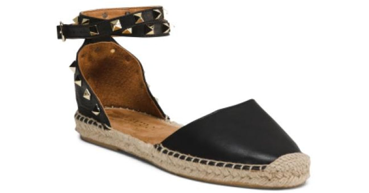 3651cfd3730 Lyst - Tj Maxx Made In Spain Leather Sandals in Black