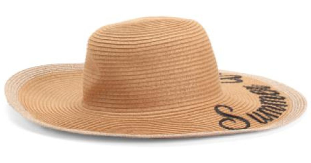 Lyst - Tj Maxx Summer Vibes Sun Hat in Brown 3f7014b7df2