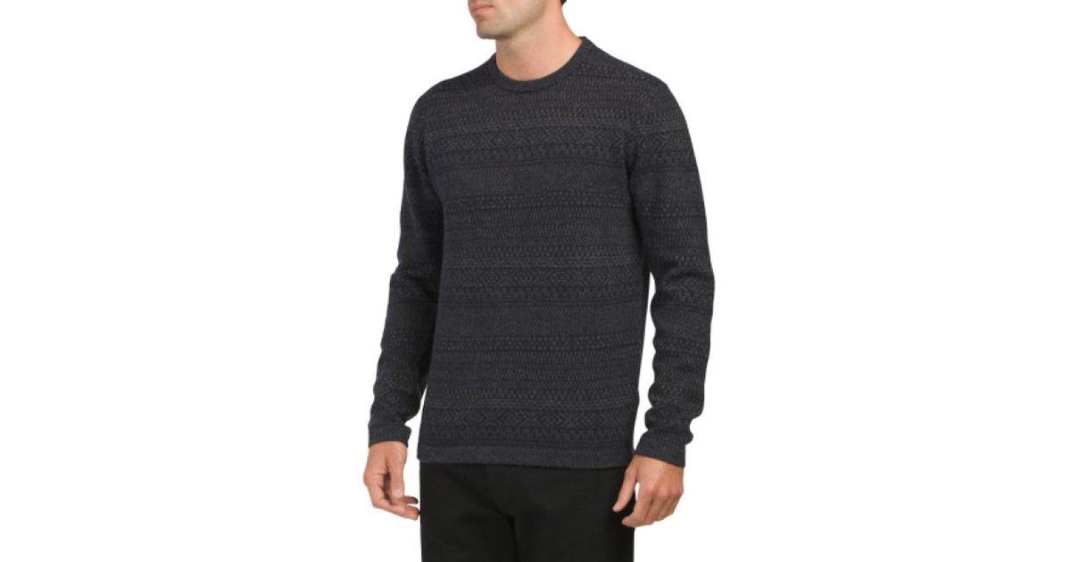 Tj maxx Rocker Fairisle Knit Wool Sweater in Blue for Men | Lyst