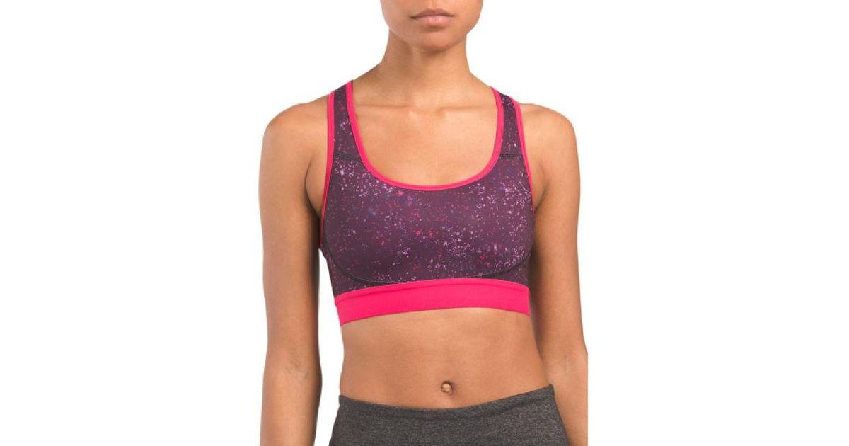 64a4657e478 Lyst - Tj Maxx The One Compression Fit Sports Bra in Purple