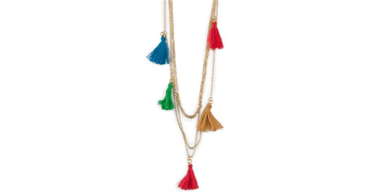 Lyst - Tj maxx Made In Canada Cotton Tassel 4 Row Necklace