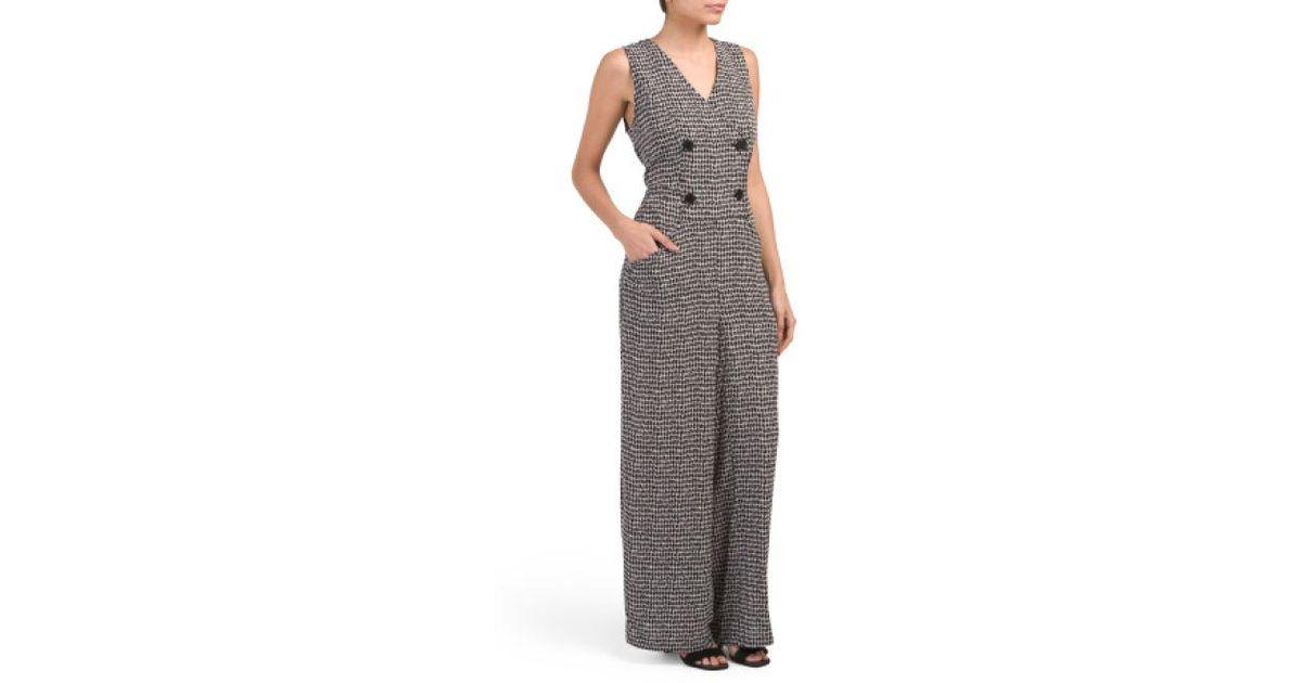 12e28df40334 Tj Maxx. Women s Printed Bubble Crepe Jumpsuit