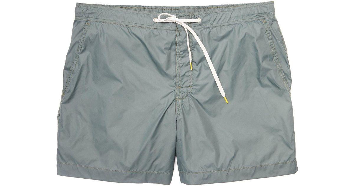 8cbb85471dc12 Hartford Kuta Solid Swim Trunks In Army Green for Men - Lyst