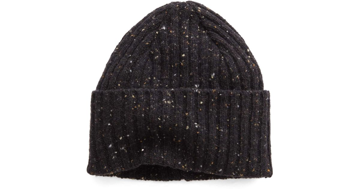 b39d06dadfa Lyst - Drake s Donegal Wool Hat In Charcoal in Black for Men