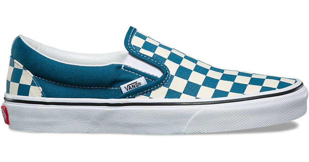 Lyst - Vans Classic Checkerboard Slip-on In Corsair in Blue for Men bf695581d