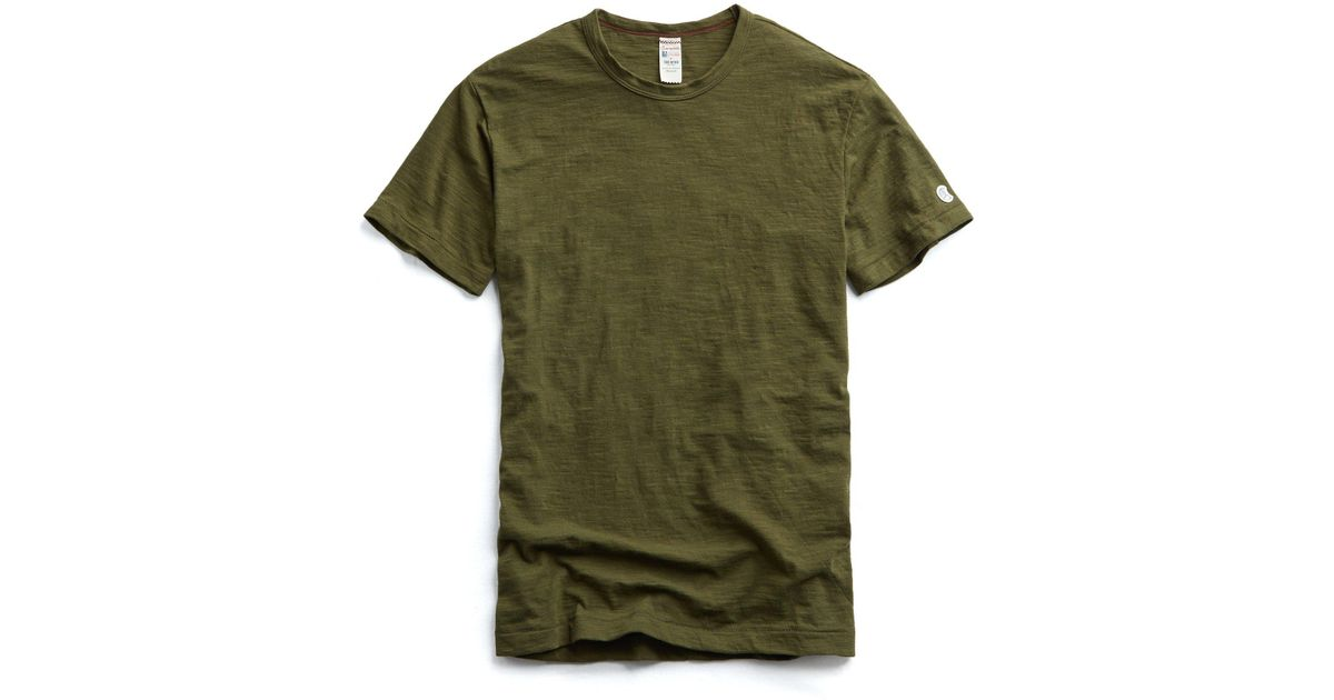 Lyst - Todd Snyder Champion Classic T-shirt In Military Olive in Green for  Men 994a2085eb3d