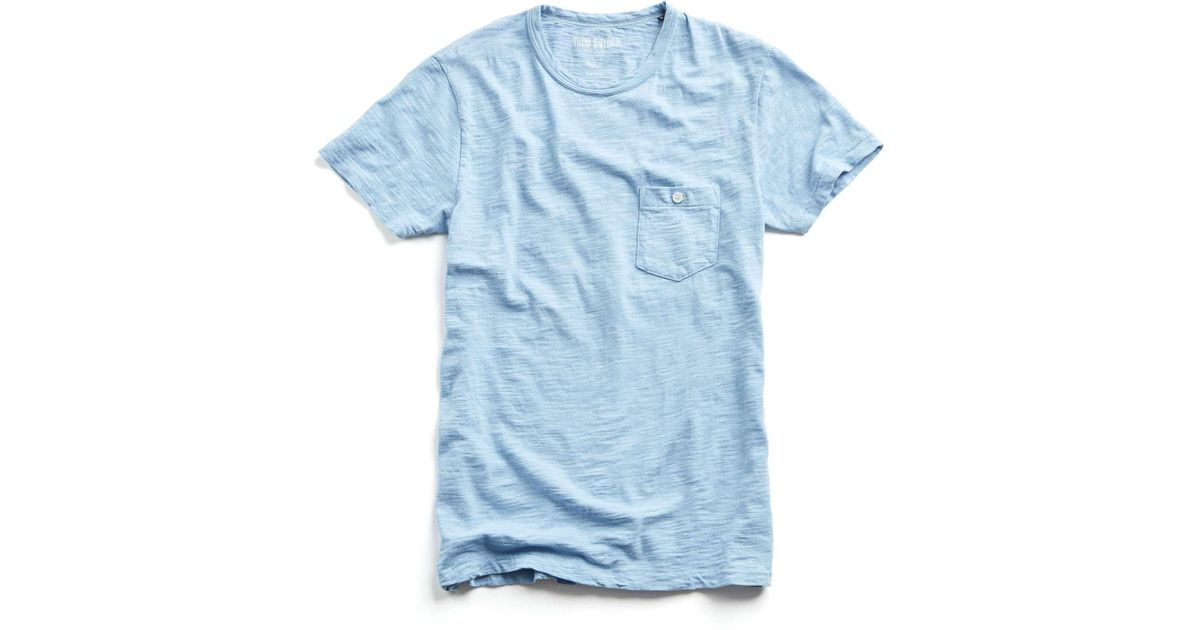 1918b046 Todd Snyder Classic Button Pocket Tee In Pale Surf in Blue for Men - Lyst