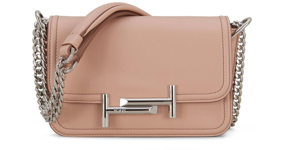 Lyst Natural Crossbody Bag Tod's Double In Mini T BwBvrq