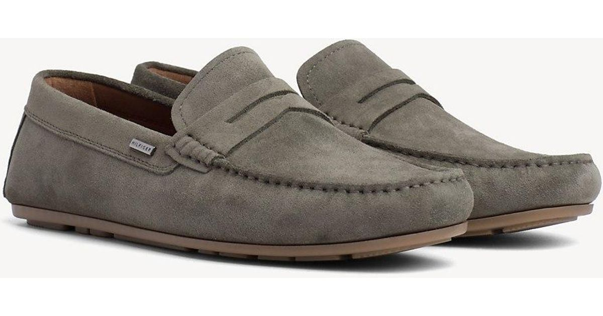 708d839d1e Tommy Hilfiger - Green Classic Suede Penny Loafers for Men - Lyst