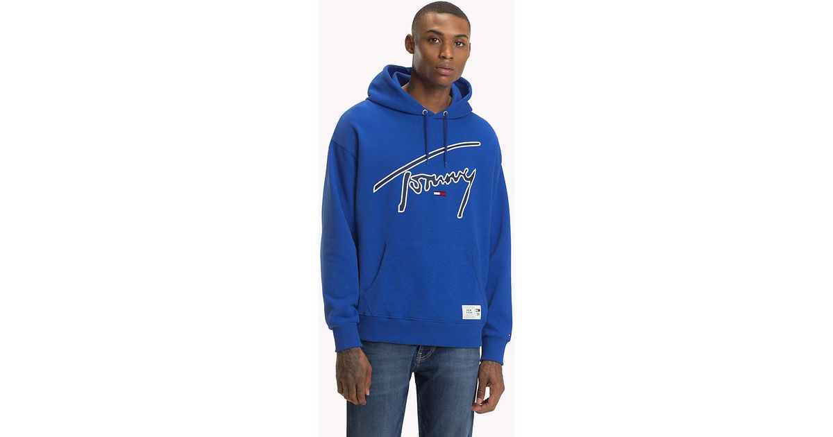 5701233c5 Tommy Hilfiger Signature Blue Hoodie - Mens Xl in Blue for Men - Lyst