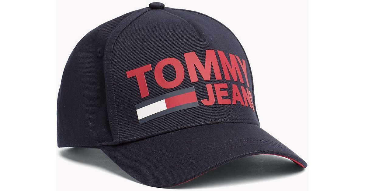 bb9ac3e1 Tommy Hilfiger Tommy Jeans Logo Cap in Blue for Men - Lyst