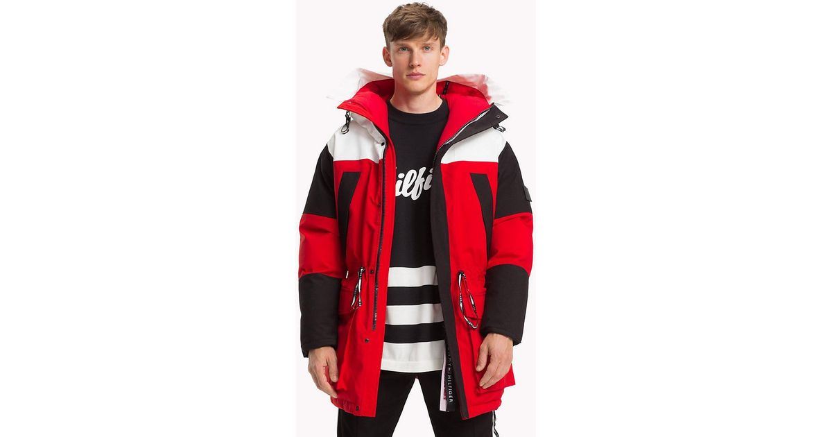 8ea989b4a42096 Tommy Hilfiger Colour-blocked Parka in Red for Men - Save 30% - Lyst