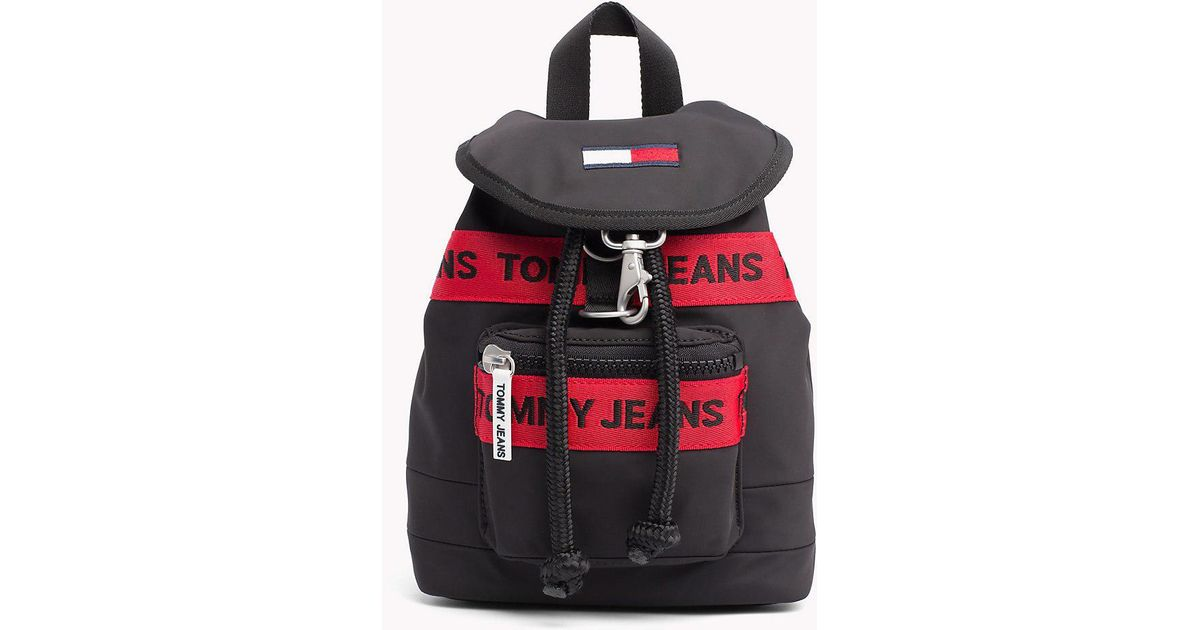 5389bb32d16 Tommy Hilfiger Heritage Mini Backpack in Black - Lyst