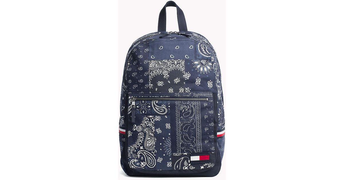 3d47d38dac9f Tommy Hilfiger Denim Bandana Print Backpack in Blue for Men - Lyst