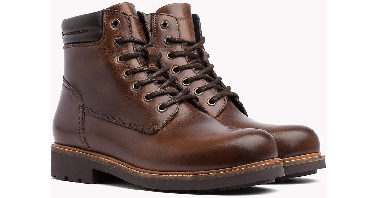 22edbc74b Tommy Hilfiger Waterproof Lace-up Ankle Boots in Brown for Men - Lyst
