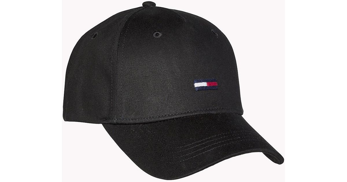 24bcb513 Tommy Hilfiger Flag Front Baseball Cap in Black for Men - Lyst