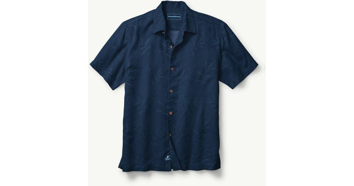 6f3758bb Lyst - Tommy Bahama Big & Tall Luau Floral Camp Shirt in Blue for Men