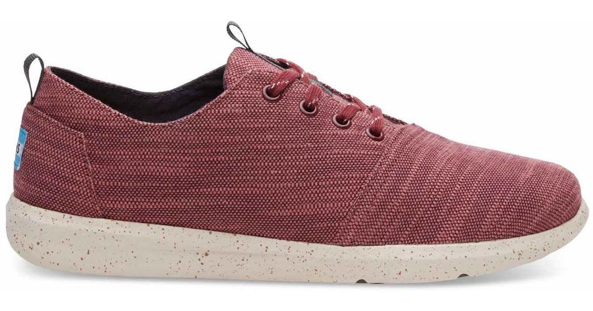 b22adb4e680 Lyst - TOMS Pomegranate Slubby Linen Men s Del Rey Sneakers for Men