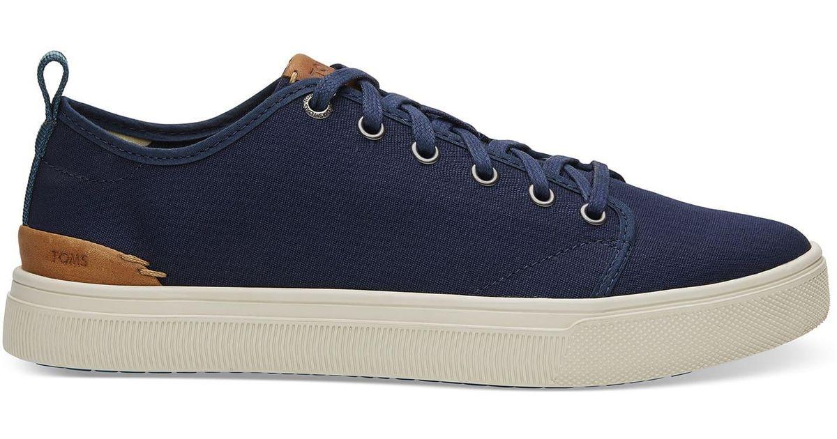 84178008469 Lyst - TOMS Navy Canvas Men s Trvl Lite Low Sneakers in Blue for Men