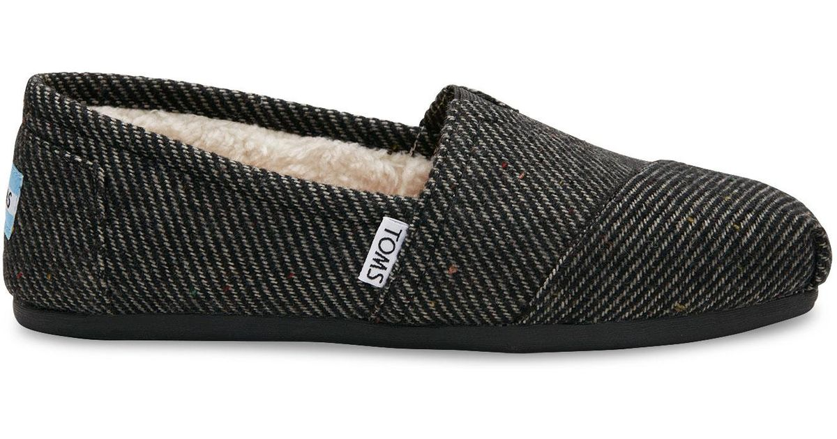 45a0ebd903e Lyst toms black and white wool women classics in black jpg 1200x630 Toms  classics shoes black