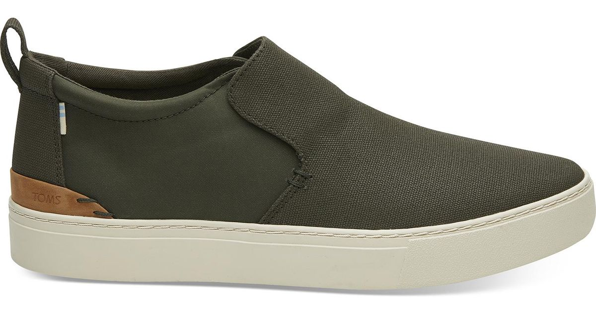 7adaed6dc0abef TOMS Paxton Water-resistant Slip-on (tarmac Olive Textural Canvas/nylon)  Slip On Shoes in Green for Men - Lyst