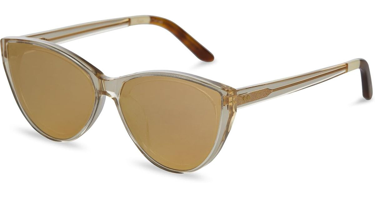 TOMS Bellini Champagne Cristal Sunglasses with Rose Mirror Lens 6Uk6LuWPFh