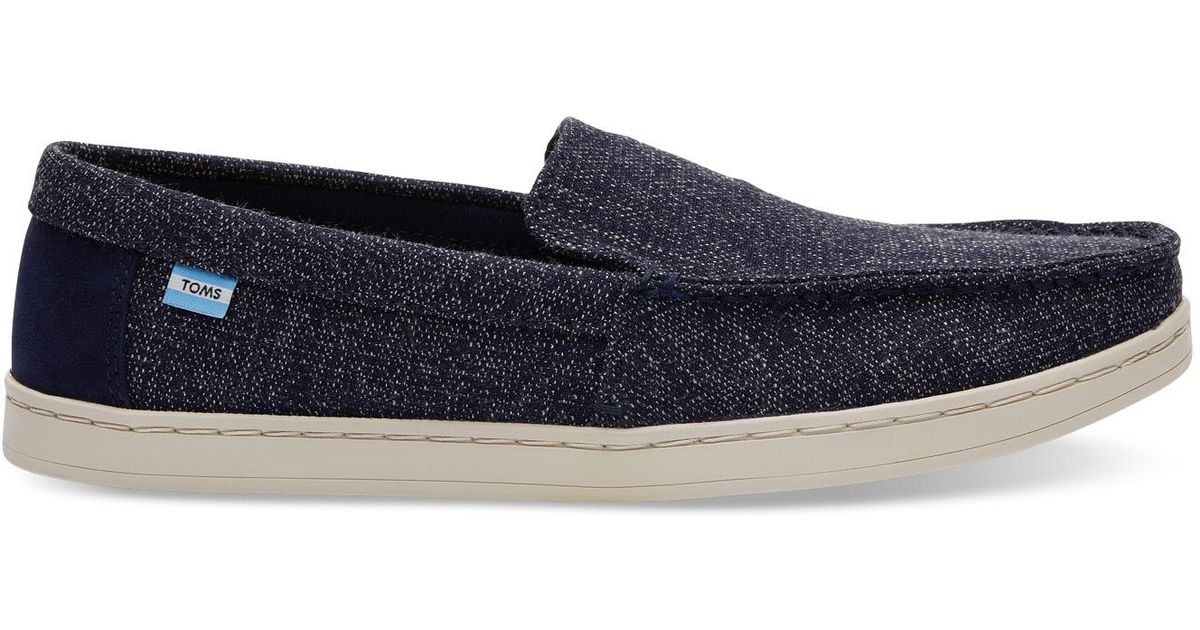 4690f2be05 Lyst - TOMS Navy Two Tone Woven Men's Aiden Slip-ons in Blue for Men