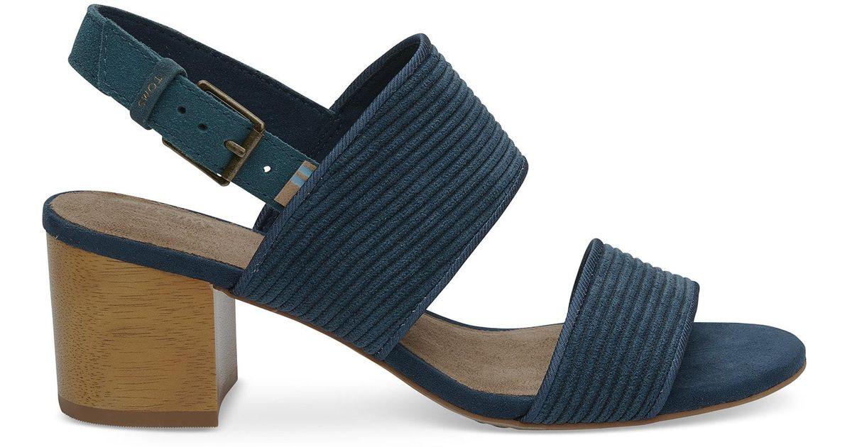 02769be4485 Lyst - Toms Atlantic Corduroy Women s Poppy Sandals in Blue for Men