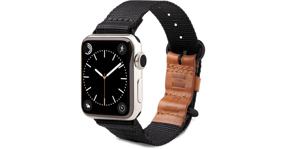 Toms For Apple Watch Band Utility 42mm Black In Black For
