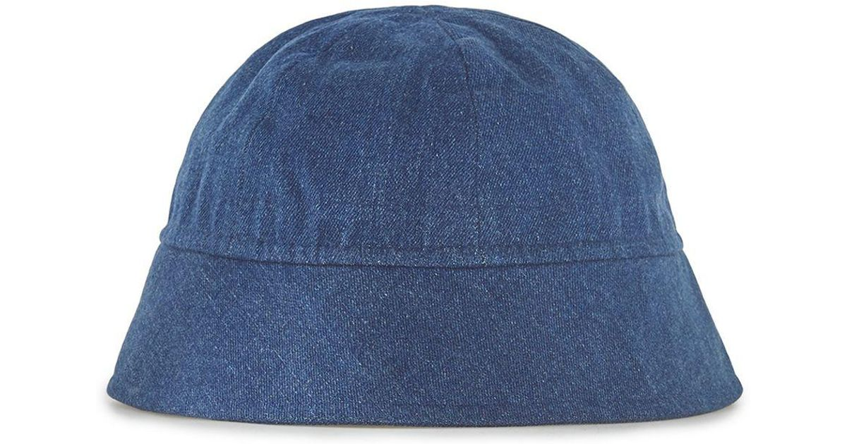 Lyst - TOPMAN Design Denim Bucket Hat in Blue for Men 7a83e06002c