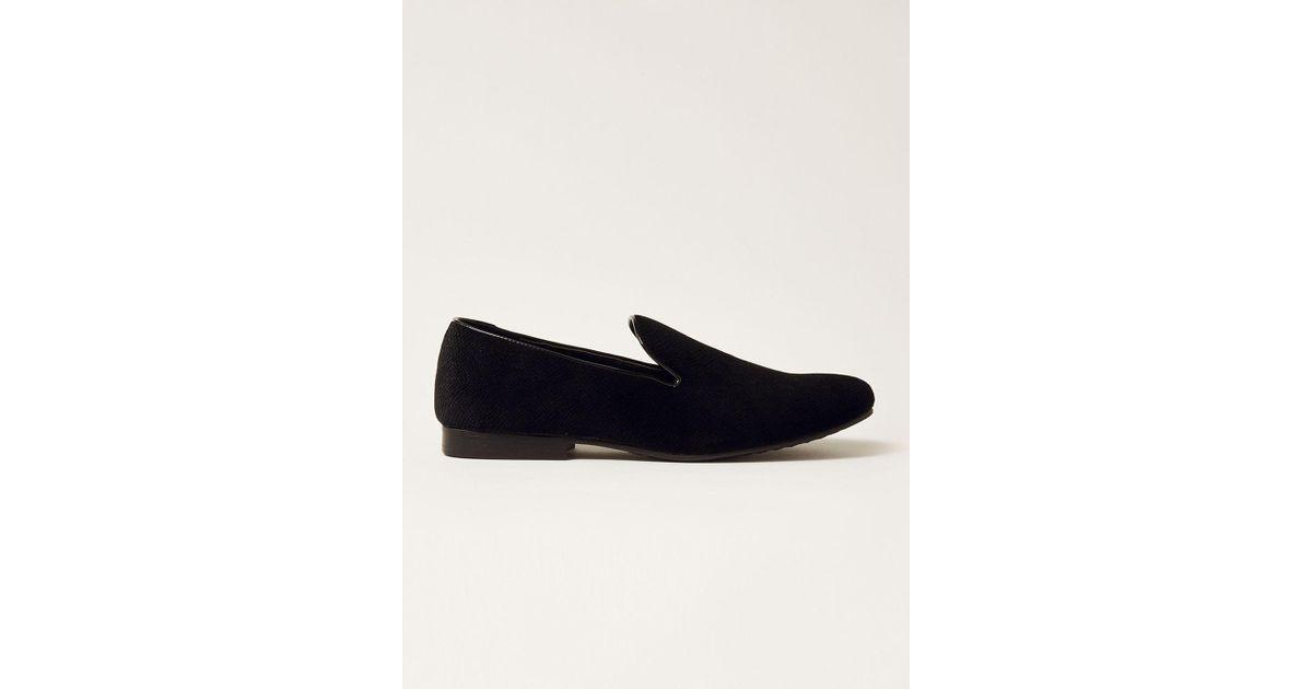 1a745785a2719 Lyst - TOPMAN Black Duke Velvet Tassel Loafer in Black for Men