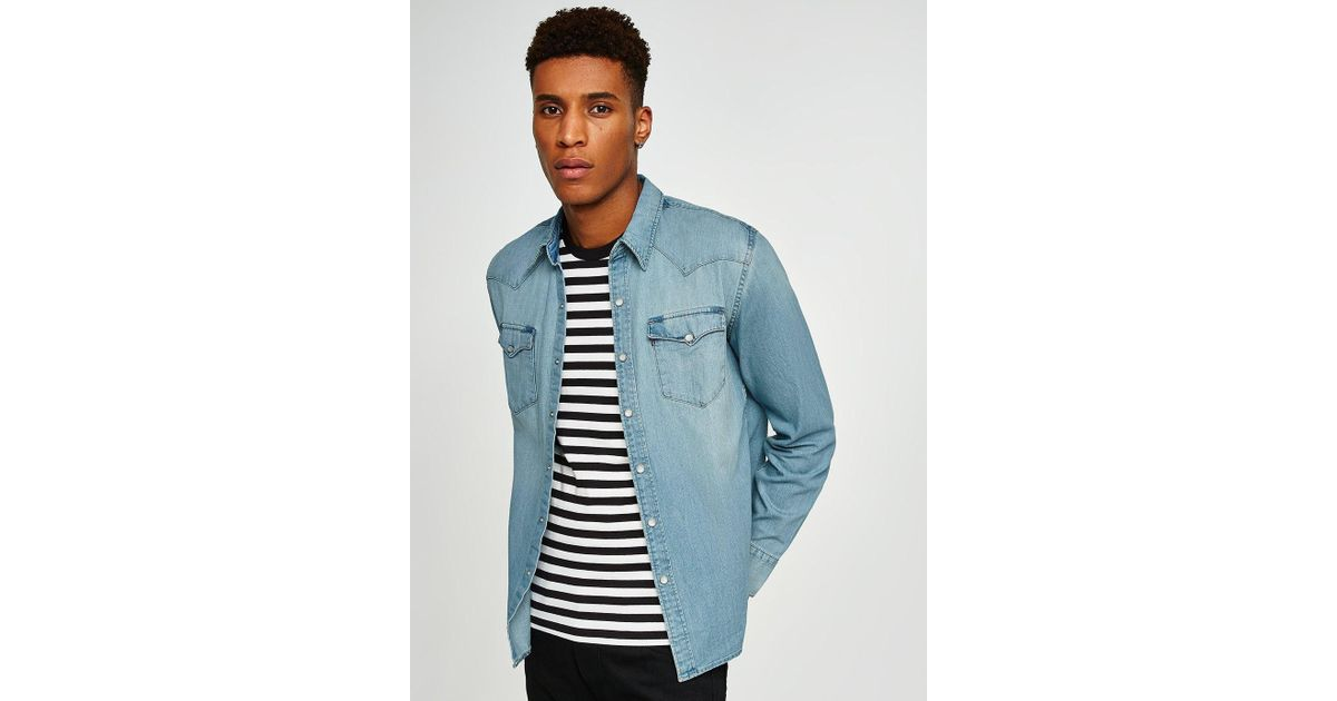 dad77d52 Levi's 'barstow' Denim Long Sleeve Shirt in Blue for Men - Lyst