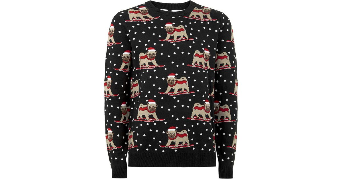 Topman Charcoal Gray Skiing Pug Sweater in Gray for Men   Lyst