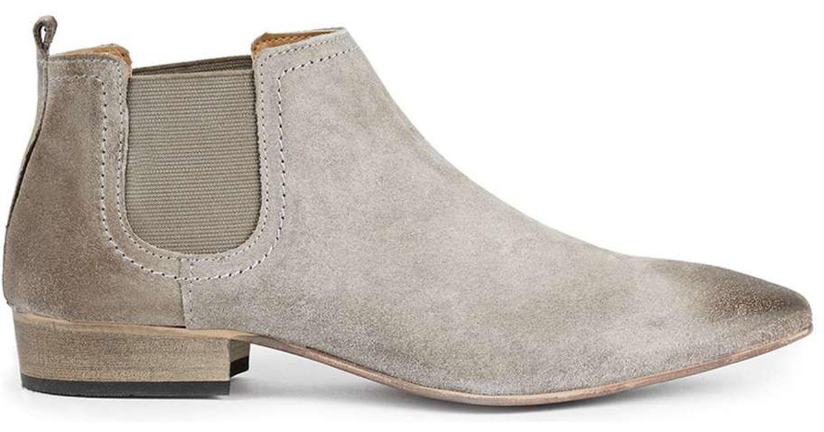 Topman Grey Suede Chelsea Boots In Gray For Men Grey Lyst